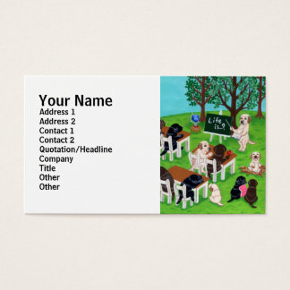 Labrador School Painting Business Card