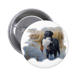 Labrador with Duck- Duck Hunting 6 Cm Round Badge