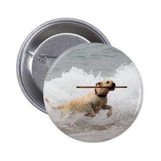 Labrador - Yellow - Go Fetch! Buttons