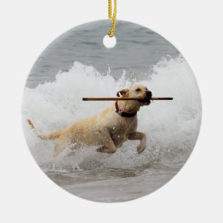 Labrador - Yellow - Go Fetch! Christmas Ornament