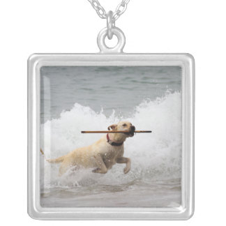 Labrador - Yellow - Go Fetch! Silver Plated Necklace
