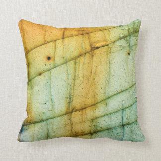 Labradorite Gemstone Crystal Macro Abstract Pillow
