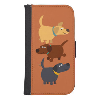 Labradors 3 Flavours Samsung Galaxy S4 Wallet