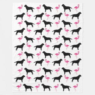 Labradors and Flamingos Blanket - Large