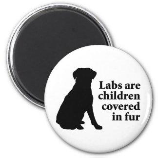 Labradors Are Fur Children Fridge Magnet