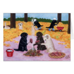 Labradors Autumn Fun Painting