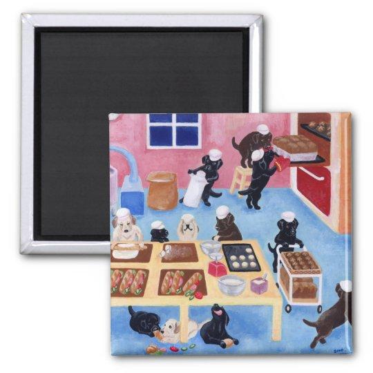 Labradors Bakery Magnet