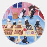Labradors Bakery Round Stickers