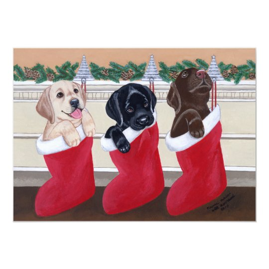 Labradors Christmas Party Invitations