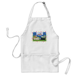 Labradors in the Garden Painting Standard Apron