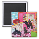 Labradors in the Kitchen Painting Refrigerator Magnet