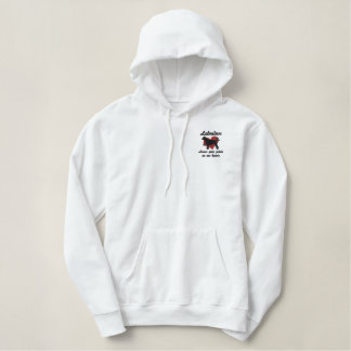 Labradors Leave Paw Prints Embroidered Hoodie
