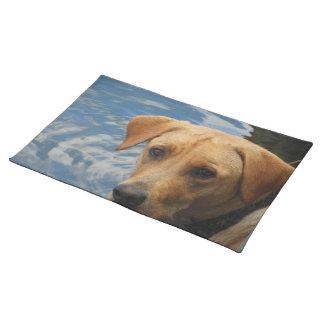 Labradors Wet Face Placemat