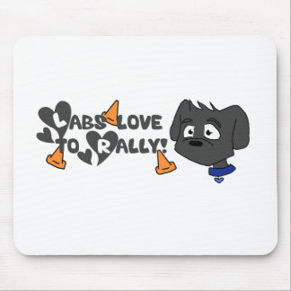 Labs Love to Rally Mouse Pad