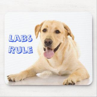 """""""Labs Rule"""" Yellow Labrador Retriever  Mousepad"""