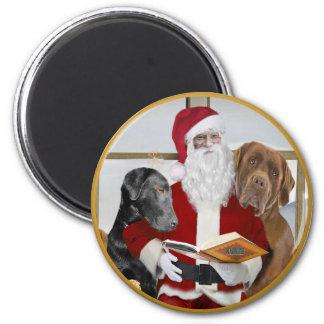 Labs Santa's Book Of Names Magnet
