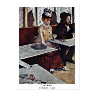 L'Absinthe By Edgar Degas Postcard