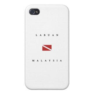 Labuan Malaysia Scuba Dive Flag iPhone 4 Covers