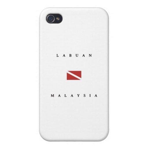 Labuan Malaysia Scuba Dive Flag iPhone 4 Cases