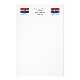 Labuan waving flag with name stationery paper