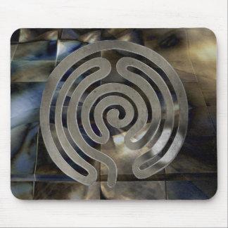 labyrinth antique antique more silver | mosaic gru mousepad