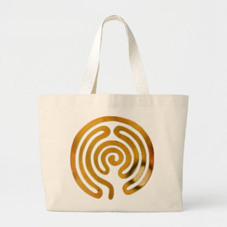 labyrinth antique gold canvas bags