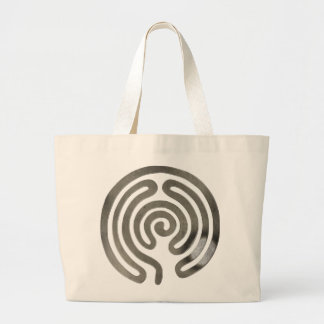 labyrinth antique more silver jumbo tote bag