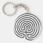 Labyrinth Basic Round Button Key Ring