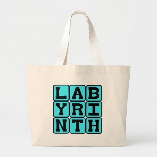 Labyrinth, Complicated Maze Canvas Bags