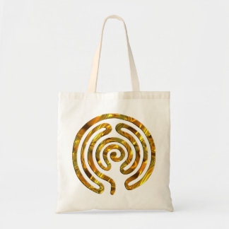Labyrinth GOLD Tote Bags