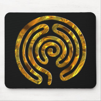 Labyrinth GOLD | black Mouse Pad