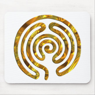 Labyrinth GOLD | make your own background Mouse Pad