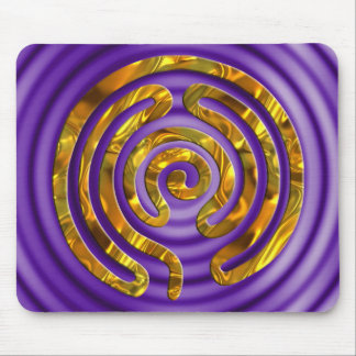 Labyrinth GOLD | violet ripples Mouse Pads