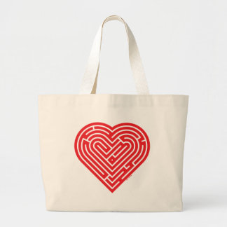 Labyrinth Heart Tote Bags