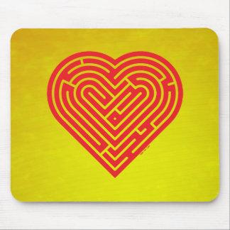 Labyrinth Heart Mousepads
