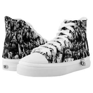 Labyrinth High Top Printed Shoes