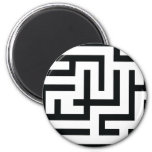 labyrinth icon refrigerator magnet