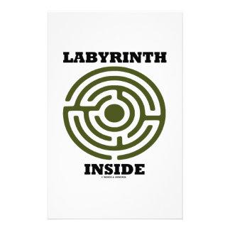 Labyrinth Inside (Maze) Stationery Paper