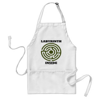 Labyrinth Inside (Psyche Psychological Humor) Standard Apron