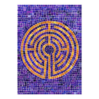 Labyrinth Mosaic 5 x 7 Invitation/Flat Card 13 Cm X 18 Cm Invitation Card