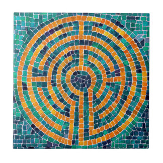 Labyrinth Mosaic II Small Ceramic Tile