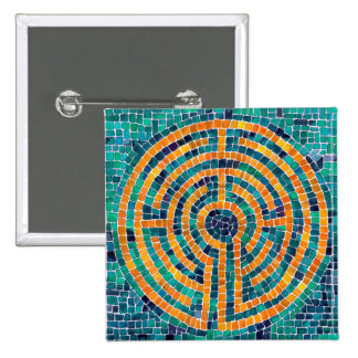 Labyrinth Mosaic II Square Button