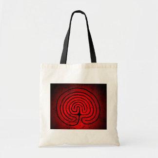 Labyrinth mysticism tote bag