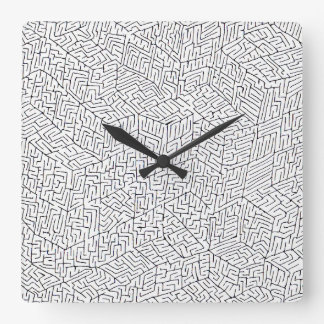 Labyrinth of Success Square Wall Clock