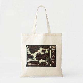 labyrinth budget tote bag