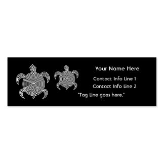 Labyrinth Turtle Profile Card Pack Of Skinny Business Cards