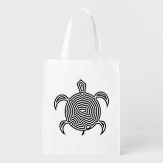 Labyrinth Turtle Grocery Bags