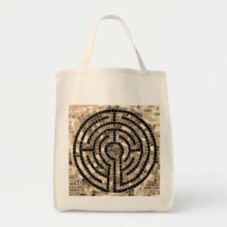 Labyrinth V Natural Grocery Tote
