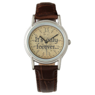 Labyrinth watch, 13 hour clock, It's only forever Watch