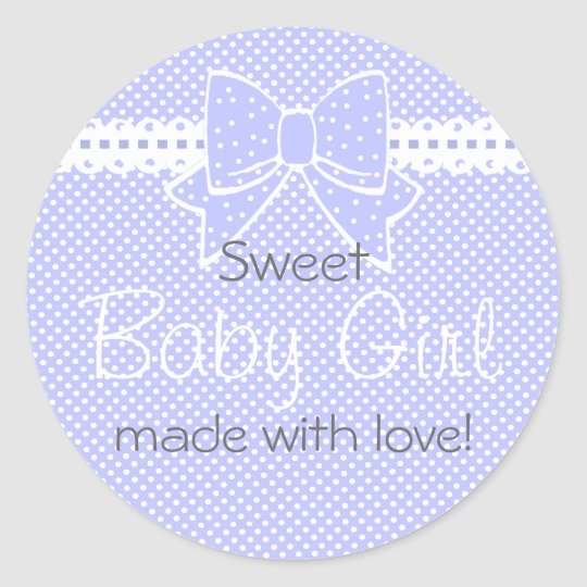 Lace and Bow Lavender Baby Shower Favour Classic